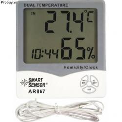 Đồng hồ đo nhiệt độ độ ẩm Smart Sensor AR 867