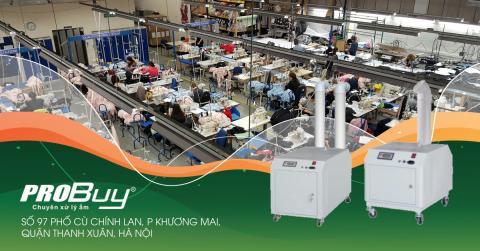 Máy phun sương tạo ẩm thiết bị cần thiết với ngành công nghiệp dệt may